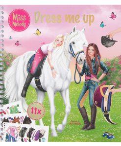 Miss Melody Dress me up Mal- und Klebebuch